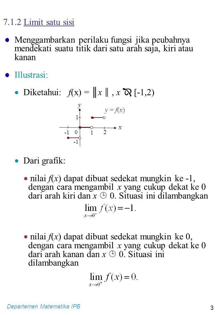  Diketahui: f(x) = ║x ║ , x  [-1,2)